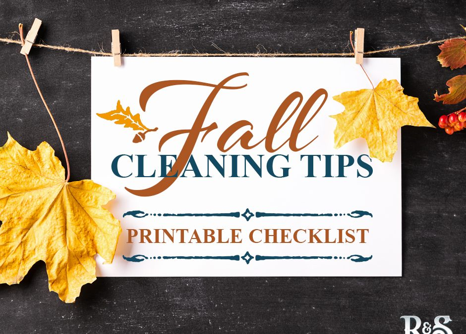 The Ultimate Fall Cleaning Checklist (free print out!)