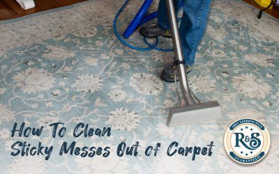 Cleaning Sticky Messes Out of Carpet